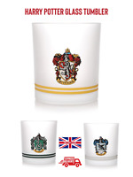 Harry Potter Glass tumbler 325ML Gryffindor Slytherin RavenClaw HufflePuff Boxed