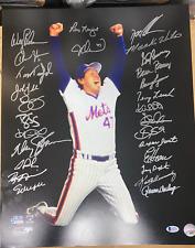 1986 Signed Autograph Mets 16x20 Photo Gooden,Strawberry Hernandez Beckett COA