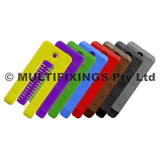 500pcs - 90mm  LONG ASSORTED SOLID PLASTIC HORSESHOE WINDOW PACKERS