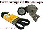Riemenspanner-Set mit Doppel-Keilrippenriemen Spannrolle Spannelement VW 1.9TDI