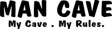 Man Cave Bar sticker 575 x 150 Quality Marine Grade Vinyl Stickers.