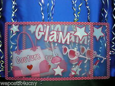 2 PlaceMats For Kids 2 Glamor Girl Placemats for Girls