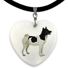 Eskimo Dog Natural Shell Mother Of Pearl Heart Pendant Necklace Chain PP67
