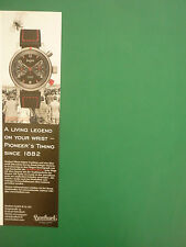 5/2006 PUB MONTRE HANHART UHR WATCH PIONEER RED X AUTOMATIC ORIGINAL GERMAN AD