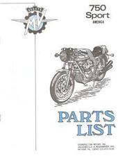 1975 MV Agusta 750 Sport America Parts List PHOTOCOPY
