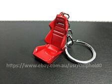 Red - Recaro SR style diecast bucket racing seat key ring - Red JDM keyring
