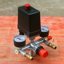 90-120PSI Ressure Control Switch Valve Manifold Regulator Gauge Air Compressor