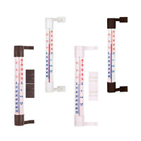 Window Wall Hung Glass Thermometer Weather Station Indoor Outdoor Garden Home °C