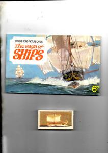 SAGA OF SHIPS EMPTY UNUSED BROOKE BOND ALBUM  + SET 50 CARDS VG + COND