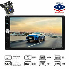 "2 DIN 7"" HD Car MP5 MP3 Player TV FM Bluetooth Touch Screen Stereo Radio +Camera"