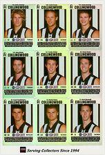 2008 AFL Teamcoach Trading Card Silver Team set Collingwood (11)