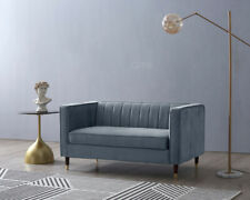 2 Seater Upholstered Luxury Velvet Fabric Sofa Modern Design Home Office Couch