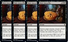 4x Bake into a Pie -NM- Throne of Eldraine Black Common