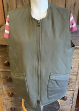 Men's R.M. WILLIAMS Australia GREEN Hunting Quilted Lined VEST, size Large XL