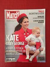 Paris Match du 10 Avril 2014 Kate et Baby Georges 8 mois / Borloo