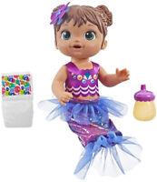 Baby Alive Shimmer n Splash Mermaid Baby Doll - Brown Hair Kid Toy Gift