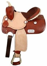 """Youth Pony Saddle with 3/4"""" Half Breed Suede Leather Seat 13"""" NEW"""