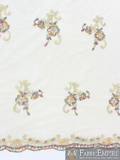 """Mesh Sequin Fabric Casual Elegance Lace Cording BEIGE 54"""" WIDE(Sold By The Yard)"""