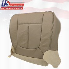 2011 - 2014 Ford F250 Lariat Driver Bottom Seat Cover Perforated Leather Tan