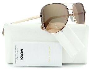 Michael Kors 0MK5004 1017R1 Chelsea Aviator Sunglasses Rose Gold w/Gold Mirror