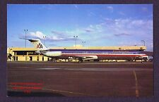LMH Postcard  AMERICAN AIRLINES  McDonnell Douglas AA MD-82  Phoenix Sky Harbor