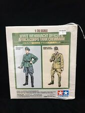 Tamiya 25154 1:35 WWII Wehrmacht Officer & Africa Corps Tank Crewman Kit