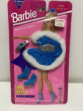 Vintage 1994 Barbie My First Fashions Glittery Ice Skater Outfit #12602, 12604