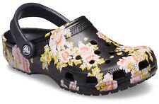 crocs Clog mit Fersenriemen Classic Printed Floral Clog Schwarz / Floral Croslit