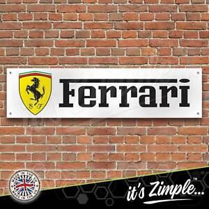 Ferrari Sports Car Stallion Logo Banner Garage Workshop PVC Trackside Sign