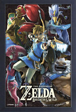 ZELDA BREATH OF THE WILD DIVINE BEASTS 13x19 FRAMED GELCOAT POSTER NINTENDO GAME