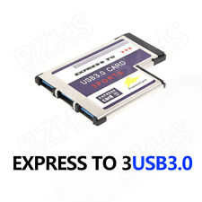 USB 3.0 54mm 3 Port Express Card Adapter Expresscard for Laptop FL1100 Chip New