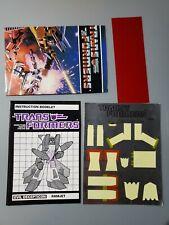 Ramjet Action Figure Robot Instruction Manual 1985 Hasbro Transformers Vintage