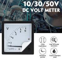 DC Volt Meter 10V 30V 50V Panel Analog Voltmeter Voltage Meter Electric Meter