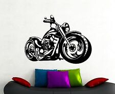 Motorbike Wall Decal Harley Davidson Chopper Vinyl Sticker Boys Room Decor 8mtz