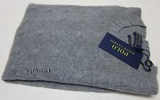 $398 NWT polo Ralph Lauren soft 100% cashmere cable sweater knit  gray M