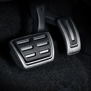 Steel Automatic Brake Gas Foot Pedal Cover Trim For 2013-2021 VW Golf Skoda Seat