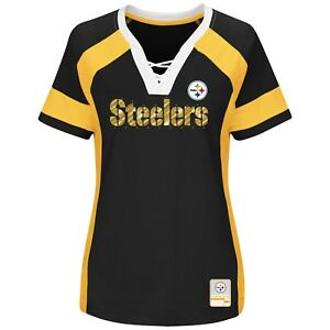 NFL Pittsburgh Steelers Majestic 2017 Draft Me Fashion Top - Women's T-Shirt