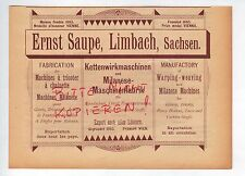 Limbach Pubblicità 1892 Ernst Saupe catene-appli-MACCHINE-milanese - MACCHINE-Fabbrica