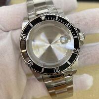 39.5MM Watch Case Bezel Strap Set for 8215 8200 Mingzhu 2813 3804 Movement