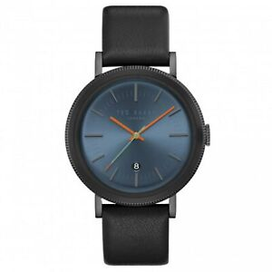 Ted Baker Connor Quartz Blue Dial Leather Strap Men's Watch TE15062007 RRP £159
