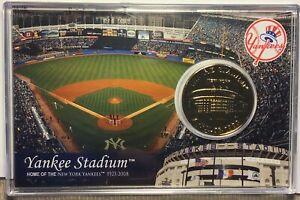 Yankee Stadium Commemorative LE 24k Gold Overlay Medallion 1923-2008 Old Stadium