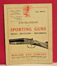 Midland Gun Co.-Birmingham-England-Catalogue of Sporting Shotguns-1926
