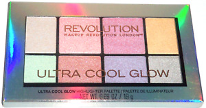 MAKEUP REVOLUTION Ultra Cool Glow Highlighter Palette - Holographic Duochrome