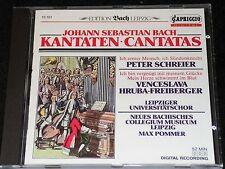 PETER SCHREIER, MAX POMMER J.S.Bach Kantaten / W.-German CD 1988 CAPRICCIO 10151