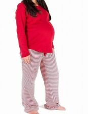 Burt's Bees Baby Womens Sleepwear Red Size Large L Pajama Sets Stripe $49 834