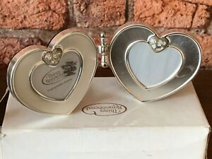 Double Heart Frame- Things Remembered With Swarovski Crystals