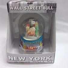 NEW YORK WALL STREET BULL MARKET STOCK WATER GLOBE STATUE OF LIBERTY SMALL 35MM