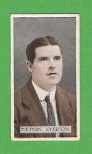 FOOTBALL - WILLS SCISSORS - FAMOUS FOOTBALLER CARD -  FERN  OF  EVERTON  - 1914