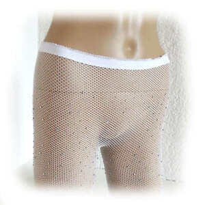 Fashion Ladies Crystal Fishnet Net Tights Sequin Size One Size (2753)