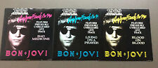 "BON JOVI - Lay Your Hands On Me 7"" Vinyl  3 x Singles VG+ 1989 Australian Tour"